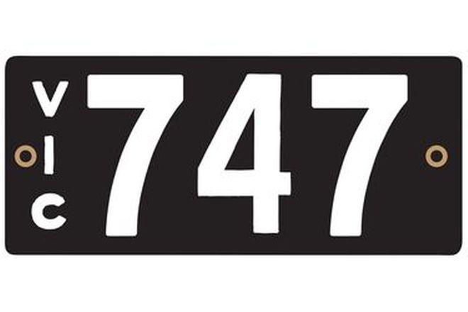 Victorian Heritage Plate '747'