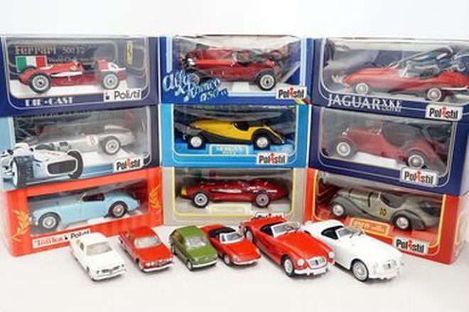 Model Cars - 15 x Assorted Polistil Model Boxed & Unboxed - Alfa, Mercedes, Jag etc (Scale 1:16)
