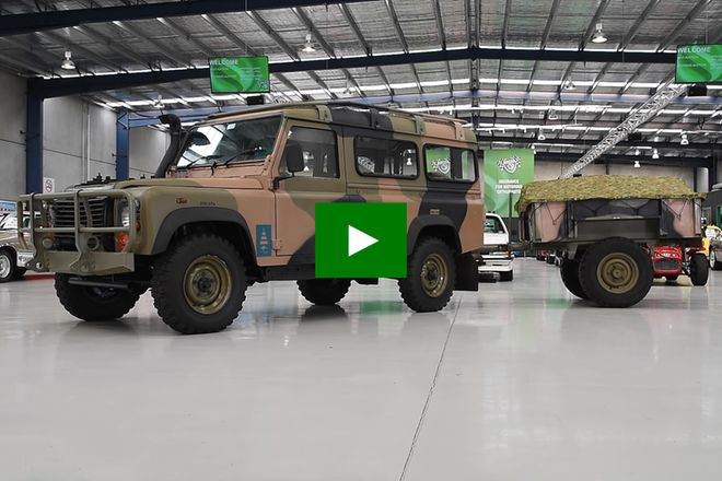 Land Rover 110 Defender 2-Door  Wagon & Trailer (Ex - Australian Army)