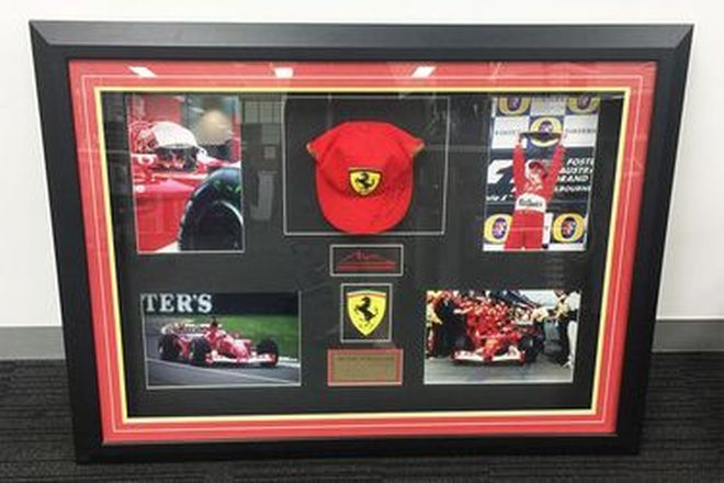 Michael Schumacher Cap Signed in Frame