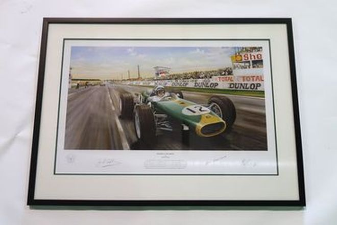 Framed Print - Limited Edition 'History in the Making' Featuring Sir Jack Brabham (92 x 67cm)