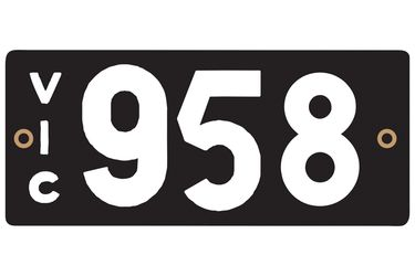 Victorian Heritage Plate '958'