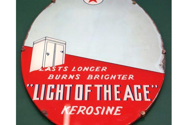 Mirror - Caltex Kerosene period 'Oval' Mirror (55 x 38cm)