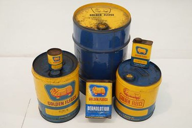 Tins & Drums -  6 x Assorted Golden Fleece Tins & Drums