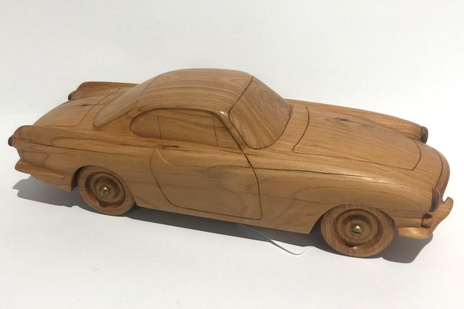 Wooden Model - Volvo P1800 (Hand Made)