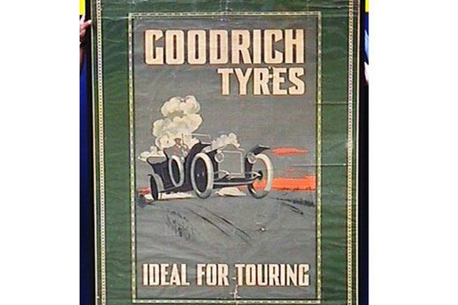 Framed Poster - 1918 English B.F. Goodrich poster in original cond.