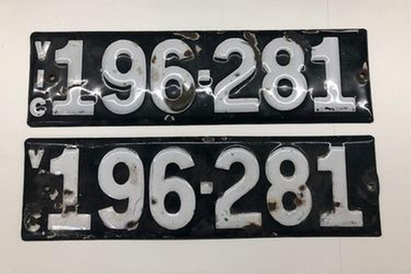 Heritage Numerical Number Plates - 196.281