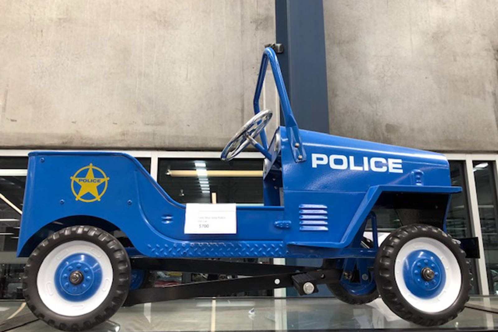 Pedal Car - Blue Police Jeep