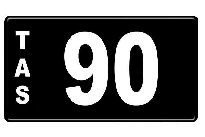 Number Plate - Tasmanian Numerical Number Plate - 90