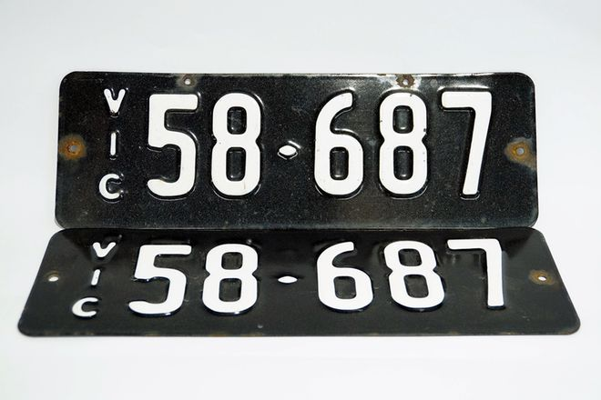 Number Plates - Victorian Numerical Number Plates - 58 -687
