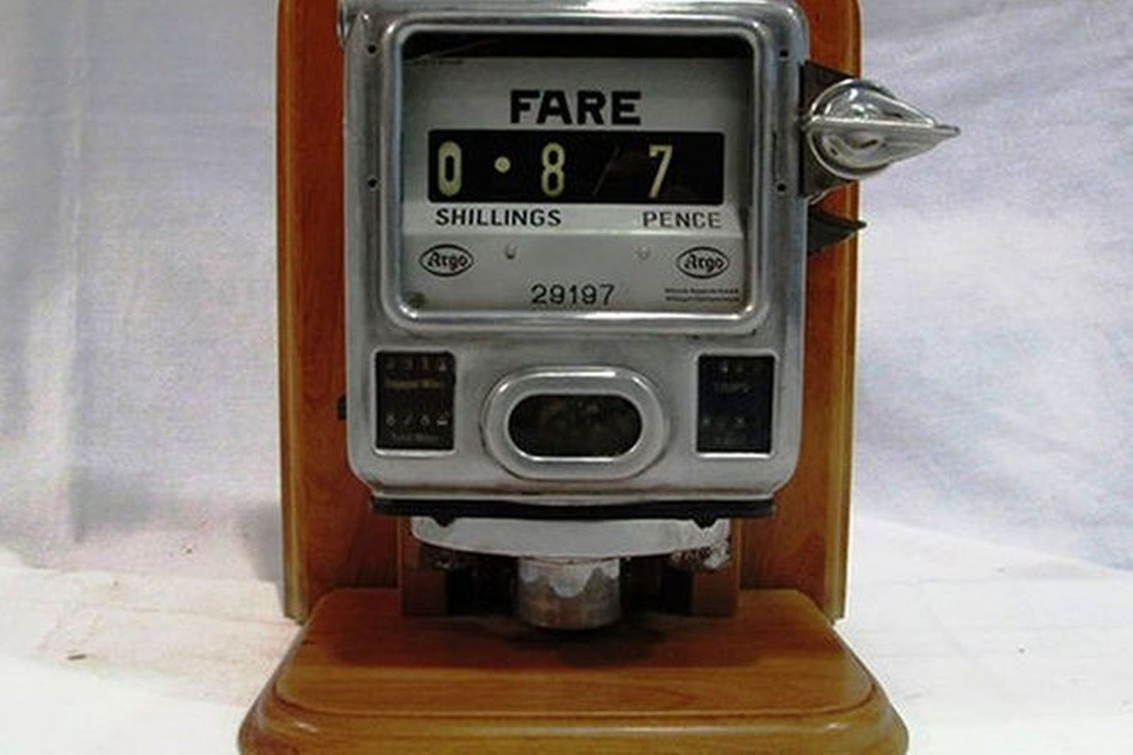 Sold: Taxi Meter - c1950's Argo Taxi Meter Auctions - Lot B