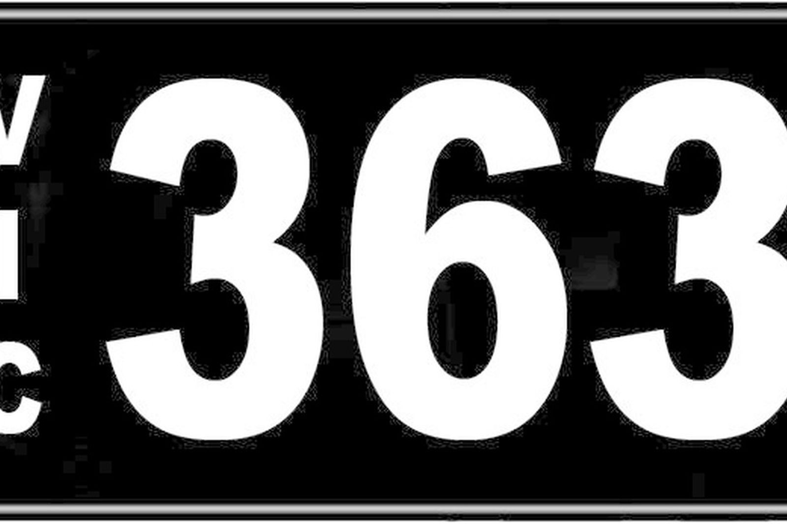 Number Plates - Victorian Numerical Number Plates - '363'