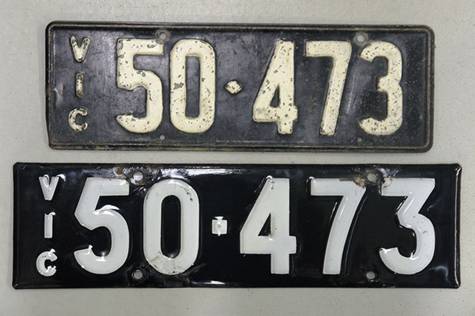 Number Plates - Victorian Numerical Number Plates '50-473'