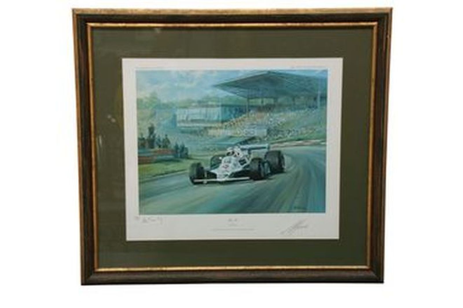 Framed Print - Alan Jones by Alan Fearnley No. 287/850  (Signed by Alan Jones & Artist)