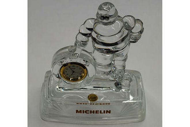 Clock - Michelin Crystal d'arques (18cm tall)