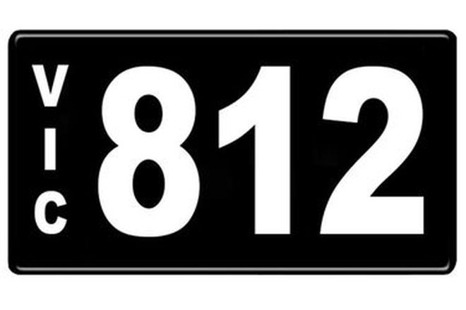 Number Plates - Victorian Numerical Number Plates '812'
