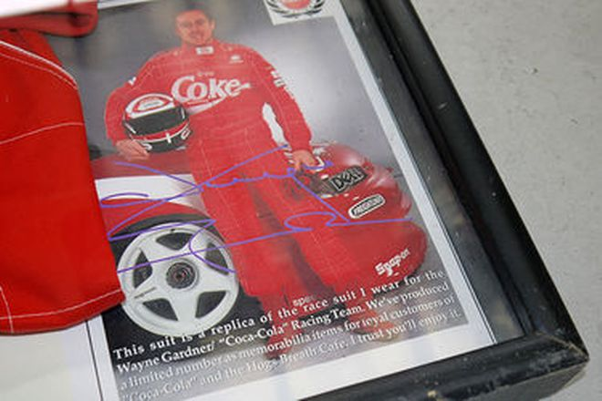 Framed Racing Suit - Wayne Gardner / Coca-Cola Race Team Limited Edition Replica Suit