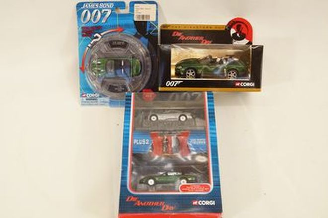 Model Cars x 4 - Corgi Models James Bond 'Die Another Day' including with Aston Martin Vanquish