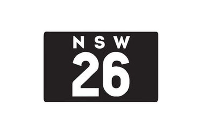 Number Plates - NSW Motorcycle Numerical Number Plates '26'