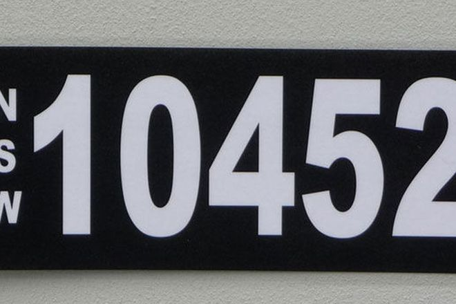 NSW Numerical Number Plates - '10452'