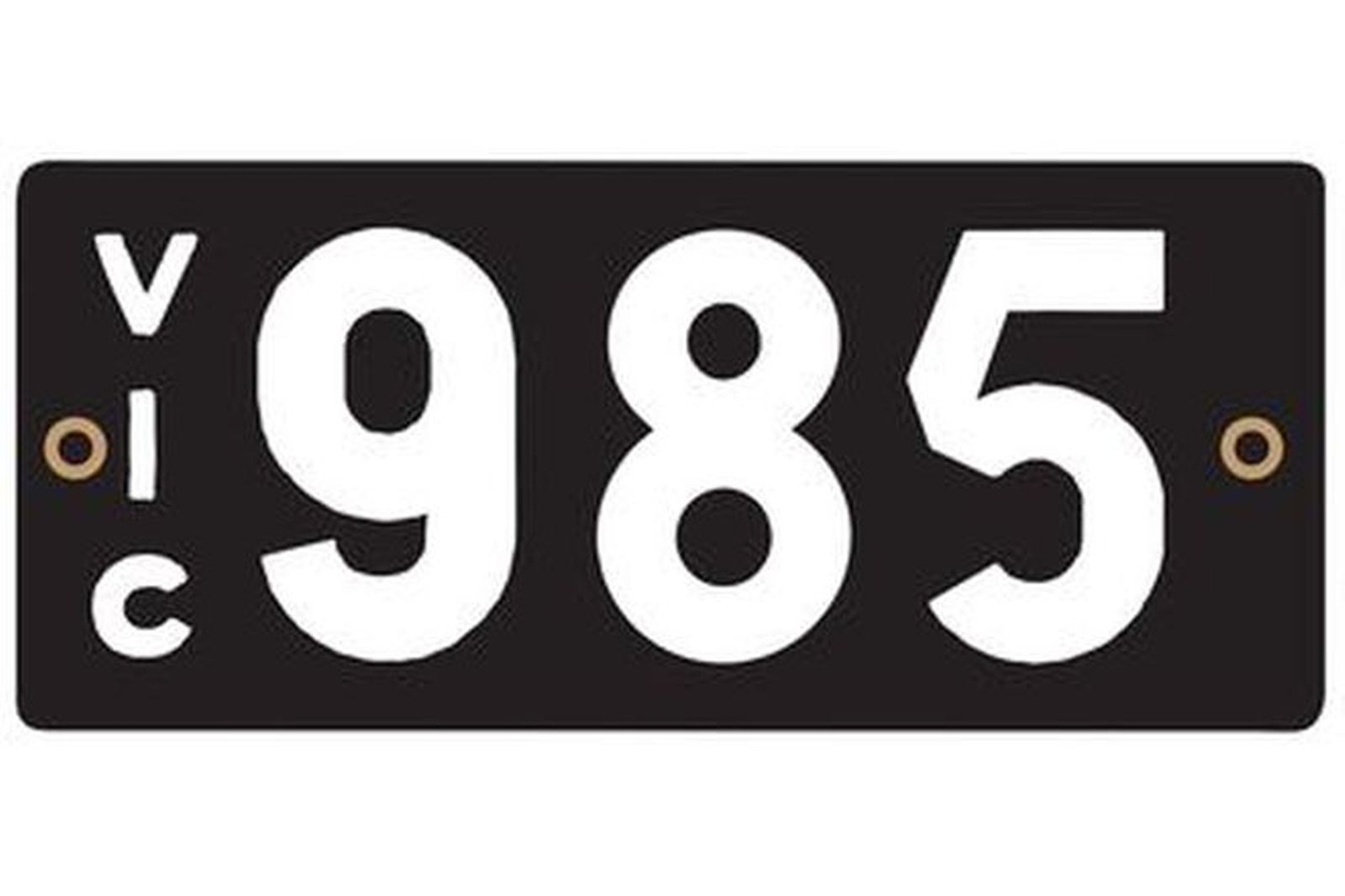 Victorian Heritage Number Plates '985'