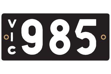 Victorian Heritage Number Plates '985'