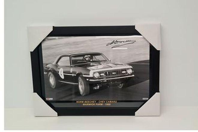 Norm Beechey's Chev Camaro SS Framed Photo (505W x 350H)