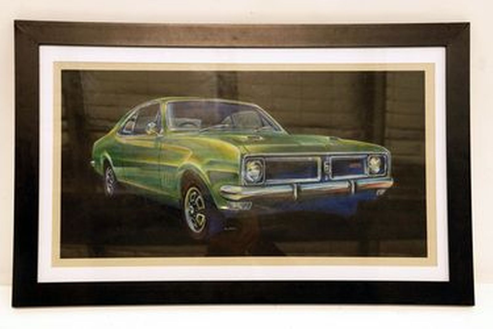 Framed Artwork - Holden HG Monaro Green Size A2