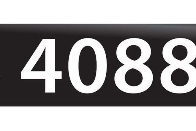 RTA NSW Numerical Number Plates '4088'