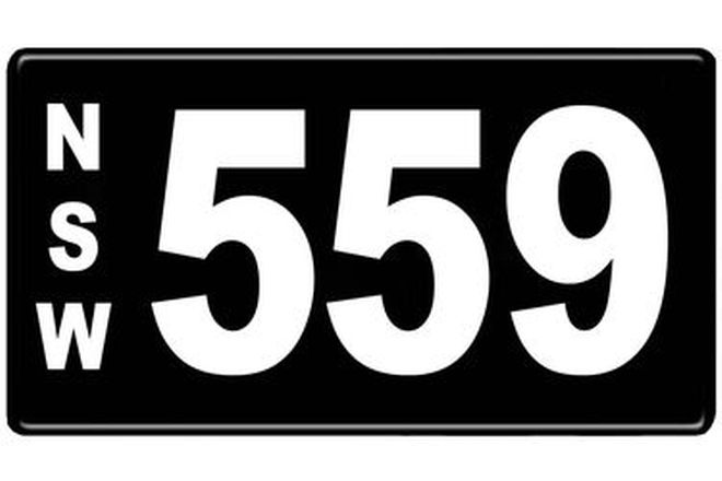 Number Plates - NSW Numerical Number Plates '559'