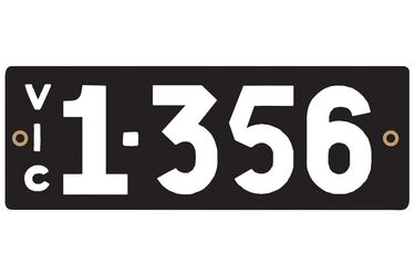 Victorian Heritage Numerical Number Plate - 1.356