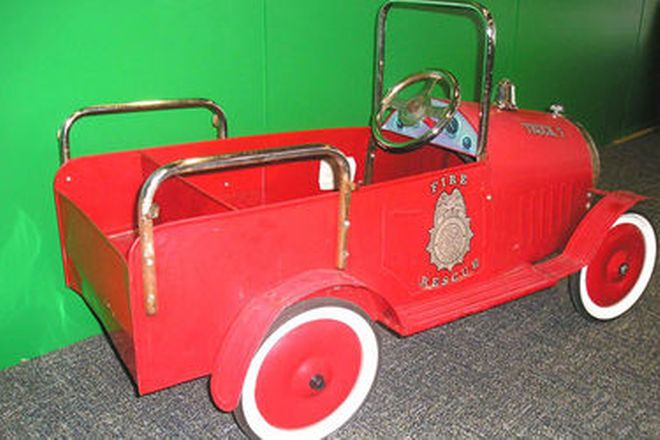Pedal Car - Child's Metal 'Fire Rescue Truck' (approx 1m in length)
