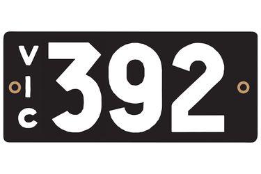 Victorian Heritage Plate '392'