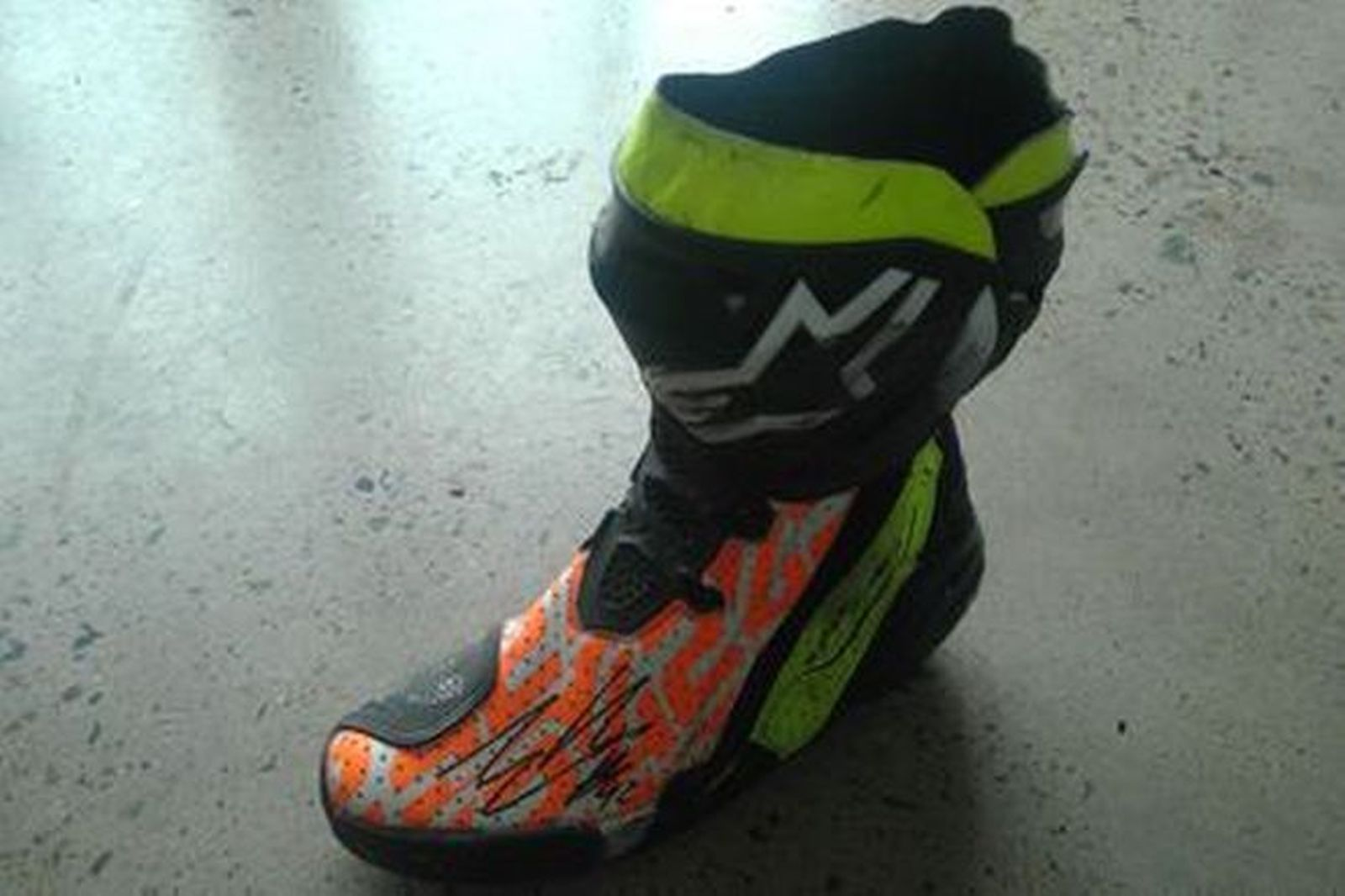Alex Rins #42 Signed Boot LF