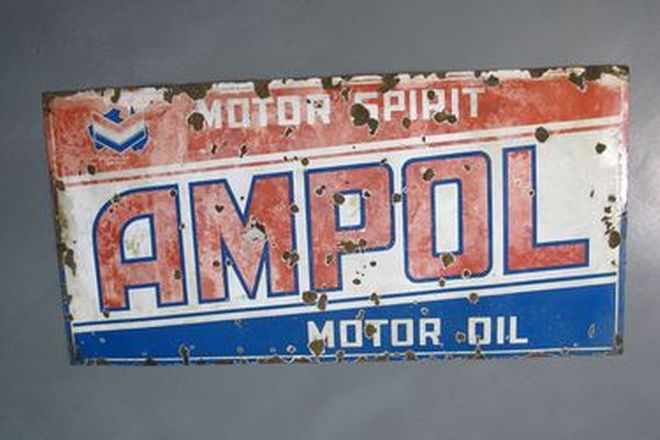 Enamel Sign - Ampol Motor Oil (183 x 92cm)