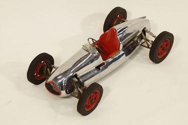 Model Car - Hand built Tinplate Cooper Climax Race Car