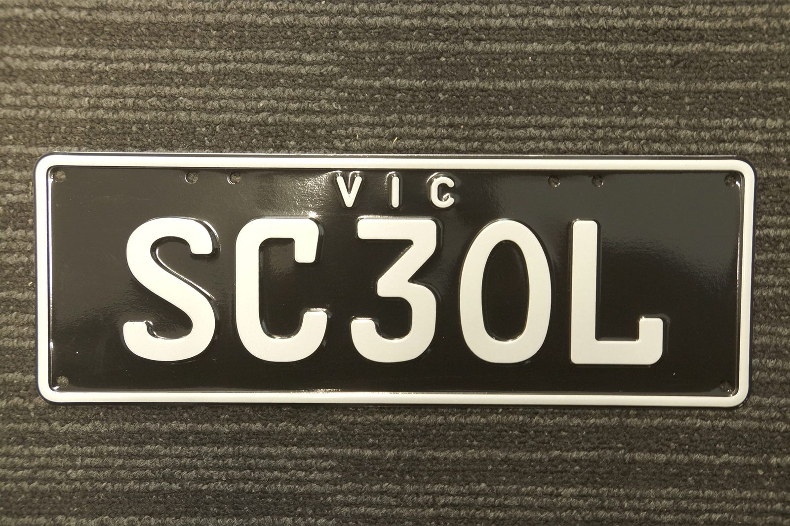 Victorian Personal Plates - 'SC 3OL'