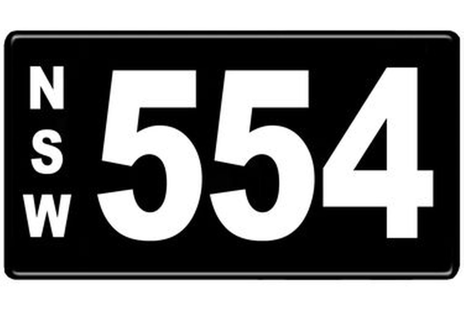 Number Plates - NSW Numerical Number Plates '554'