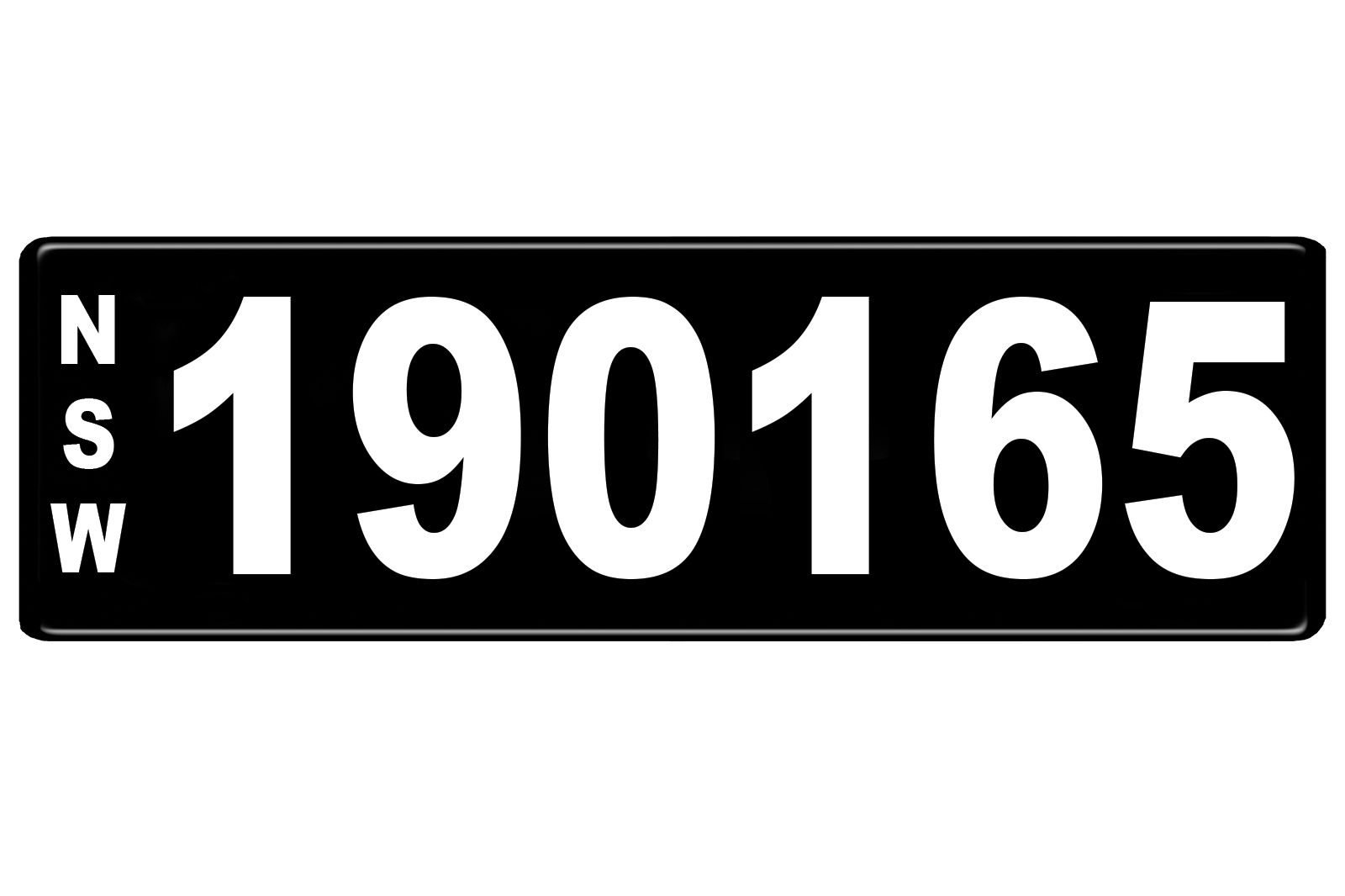 Number Plates - NSW Numerical Number Plates '190165'