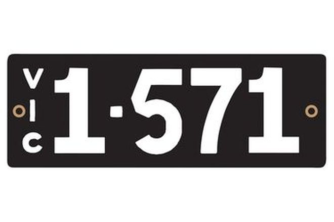 Victorian Heritage Numerical Number Plates '1.571'