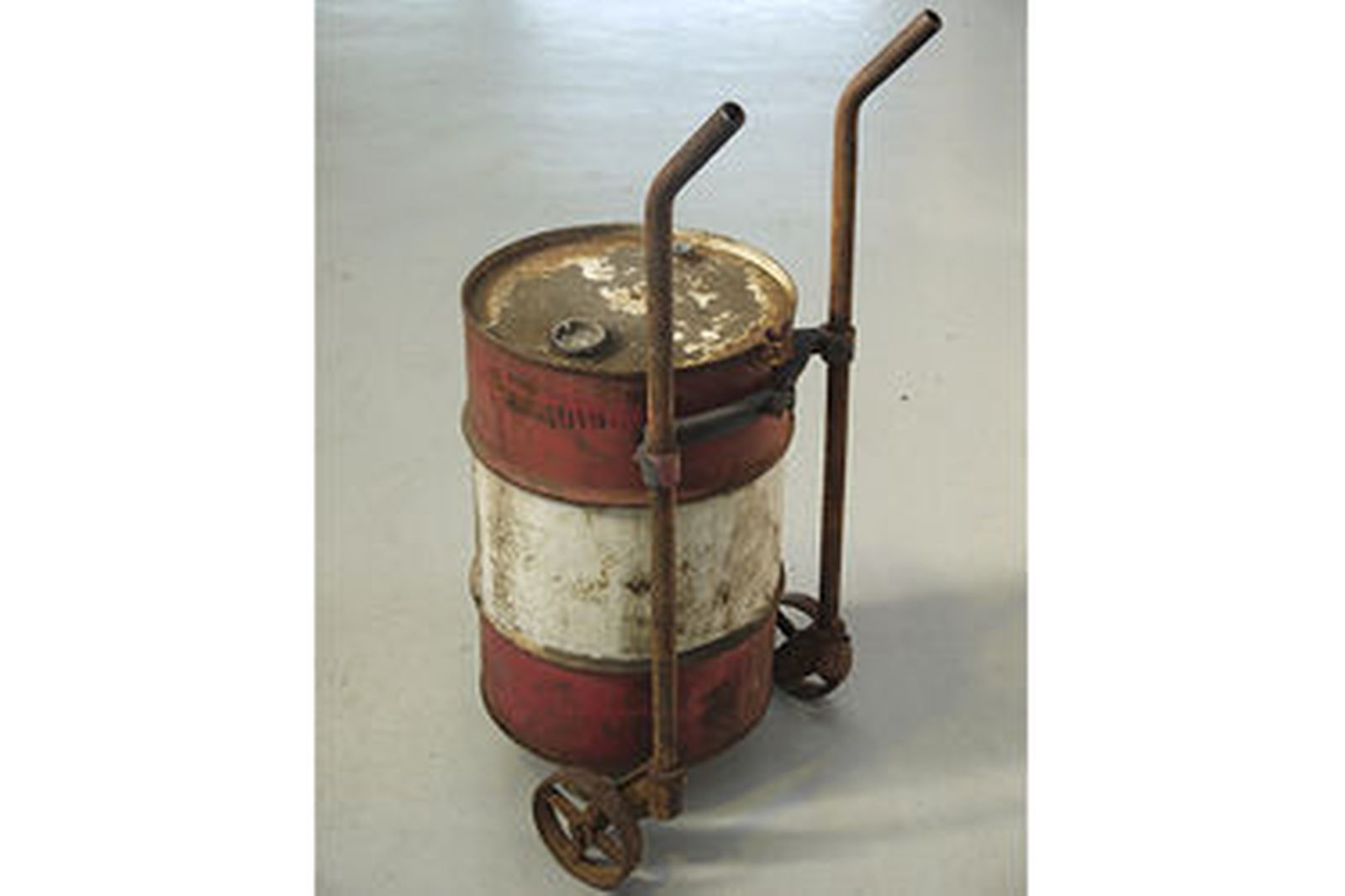 Online Car Auction >> Sold: Oil Drums x 3 - 1 x Caltex on Stand, 1 x Caltex on Trolley & 1 x Castrol with hand pump ...