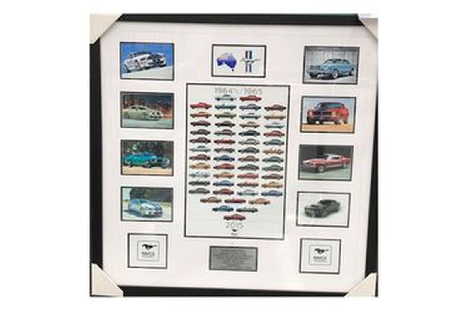 Framed Picture - 50 years of the Mustang 1965 to 2015