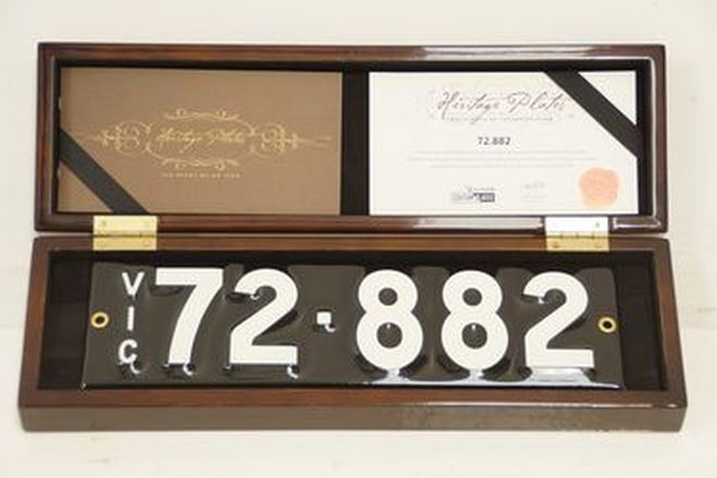 Number Plates - Victorian Numerical Number Plates '72-882'