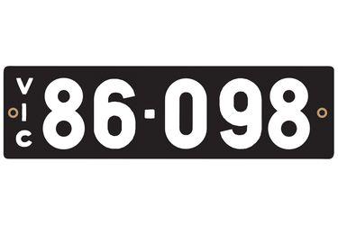 Victorian Heritage Plate '86.098'
