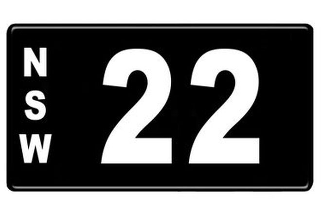 NSW Numerical Number Plates '22'