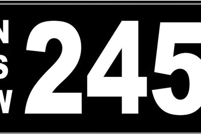 Number Plates - NSW Numerical Number Plates '245'
