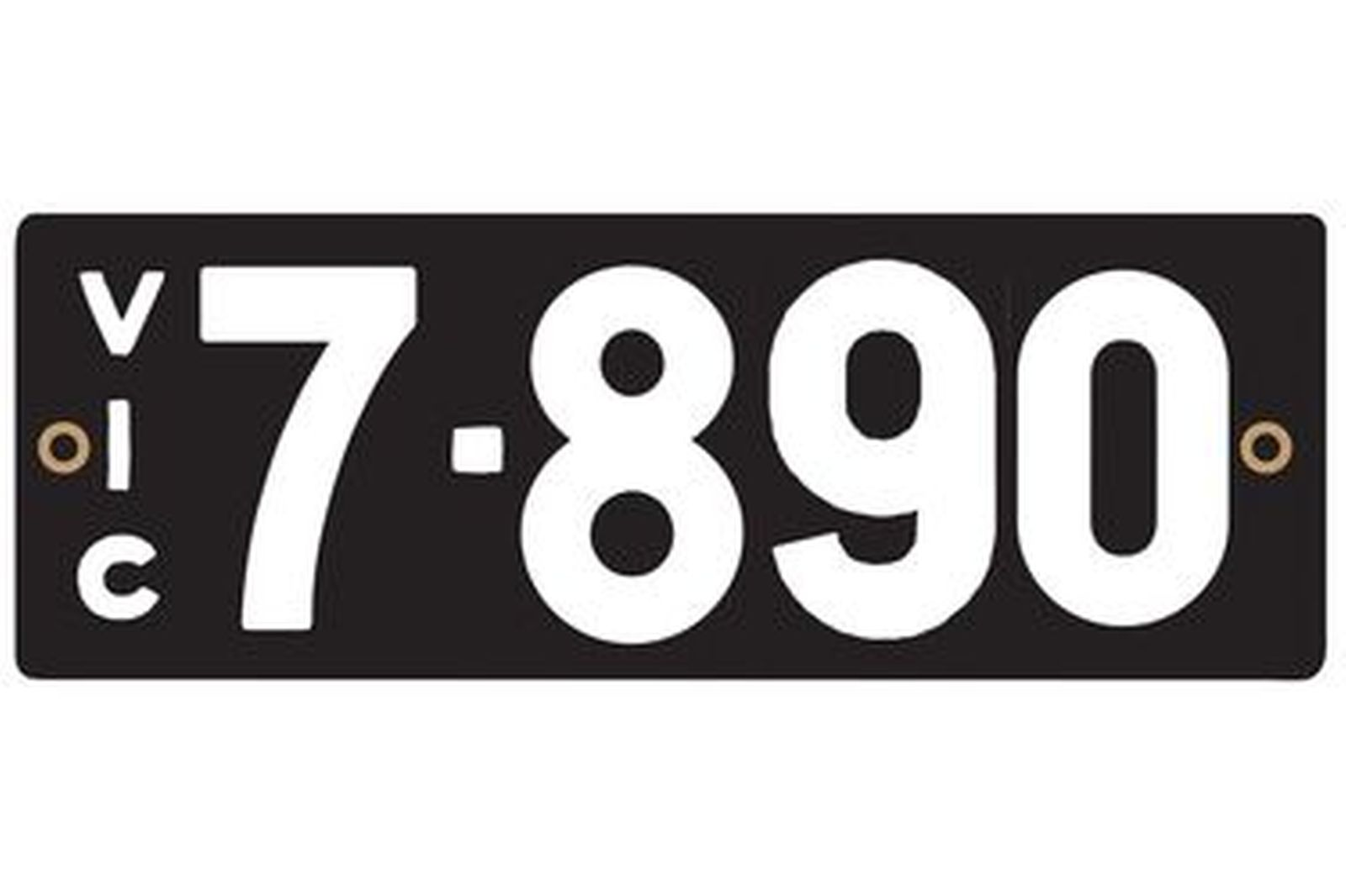 Victorian Heritage Numerical Number Plate - 7.890