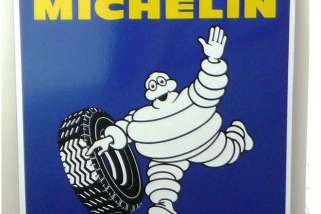 Enamel Sign - Michelin (76 x 75cm)