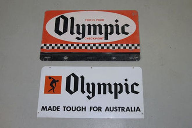 Signs - 3 x Olympic Tyres