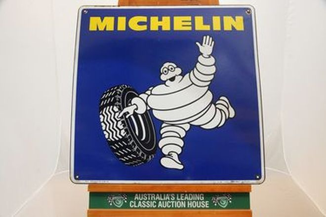 Enamel Sign - Genuine c1970s Michelin Dealership sign (65 x 65cm)